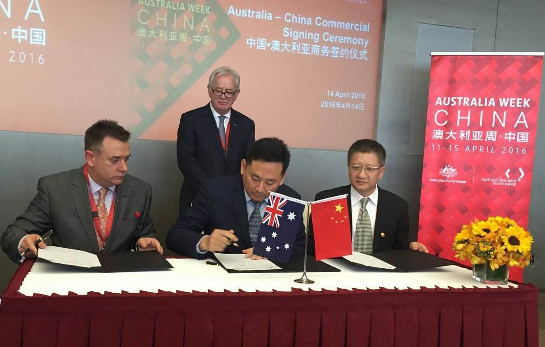 Official Signing Ceremony in the presence of Australian Ministers between China City Development Foundation, ISCA and Green World City to create more sustainable infrastructure, projects and cities in China.