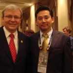 Australian Prime Minister Kevin Rudd with Sein-Way Tan(陈诚伟)
