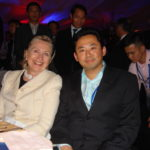 GWC CEO Sein-Way Tan with Hillary Clinton at APEC Summit