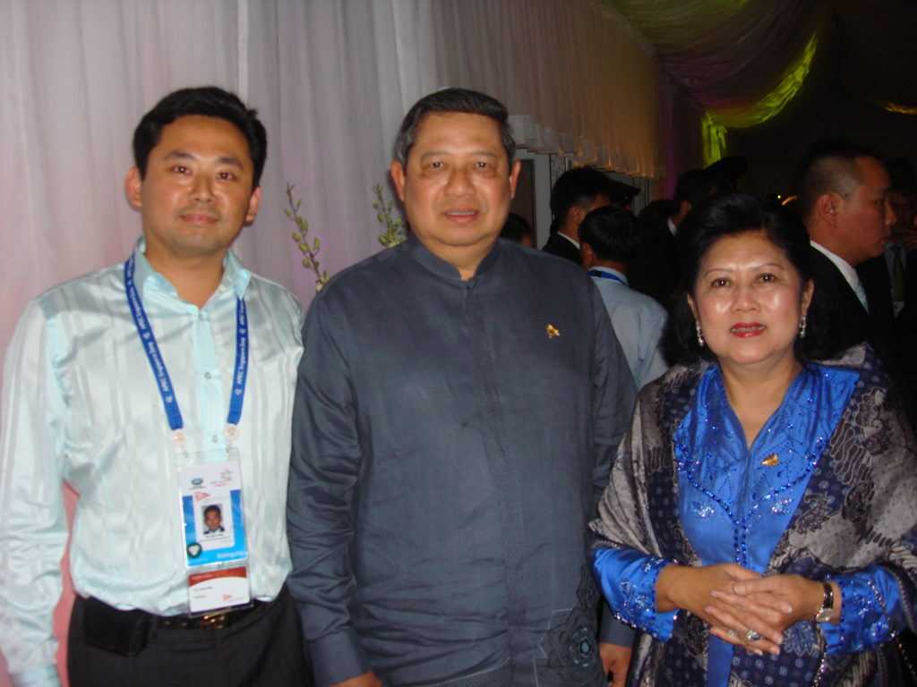 GWC CEO Sein-Way Tan with Indonesian President Yudhoyono