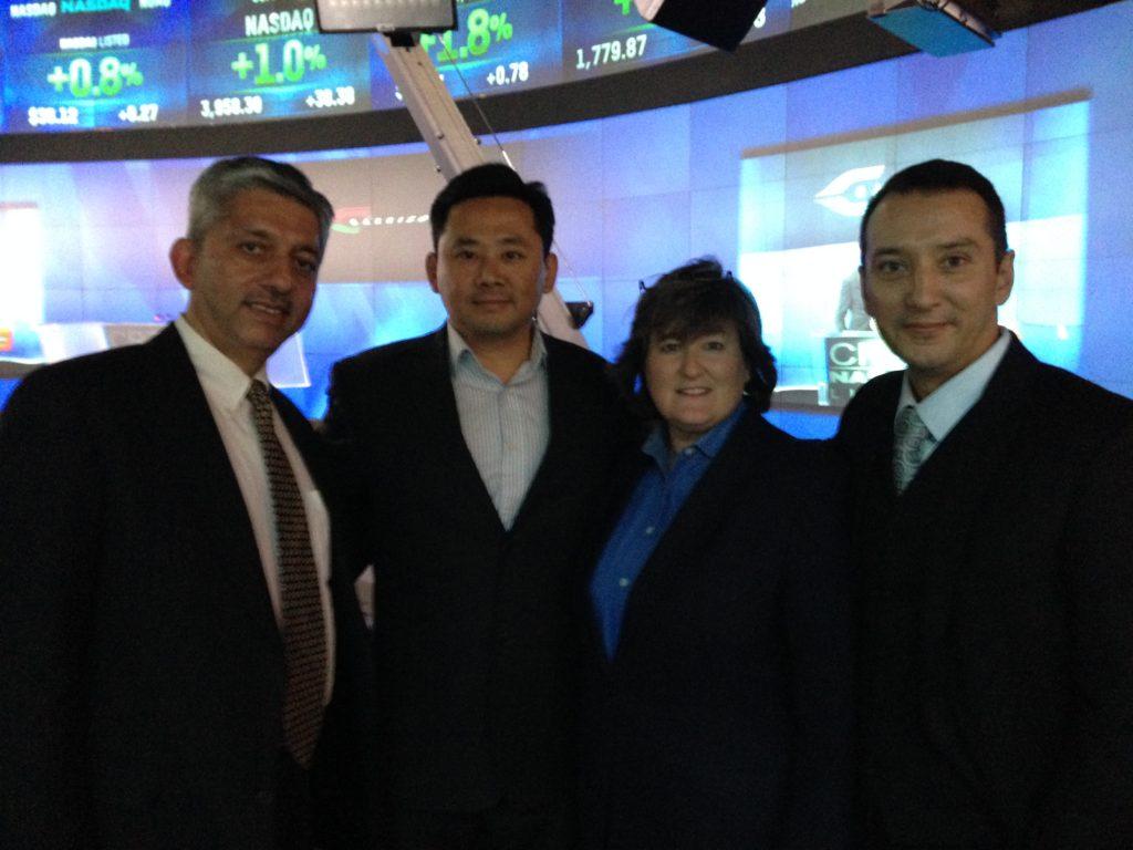 GWC CEO Sein-Way Tan with delegates at NASDAQ Closing Ceremony